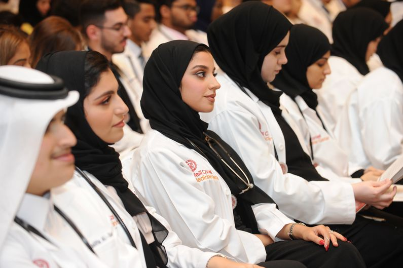 The White Coat Ceremony is a highlight of the WCM-Q academic calendar.