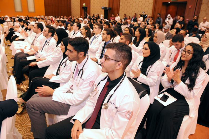 The new medical students were supported by family, friends and WCM-Q faculty.