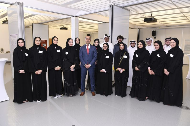 Dr. Rachid Bendriss with WCM-Q's foundation students.