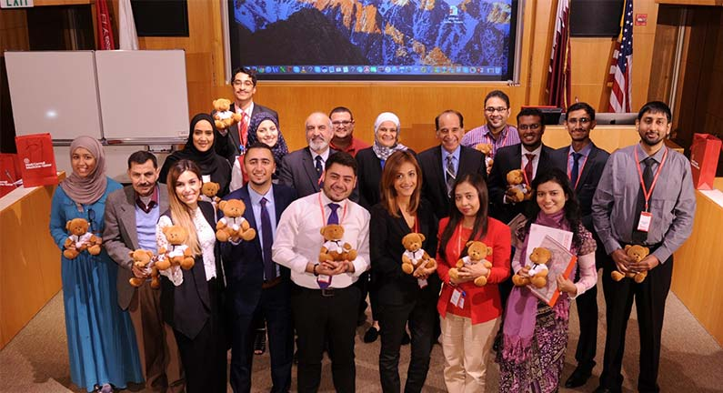 The International Exchange Program brought students and faculty from colleges in Oman, India, Pakistan, Lebanon and Palestine to WCM-Q.