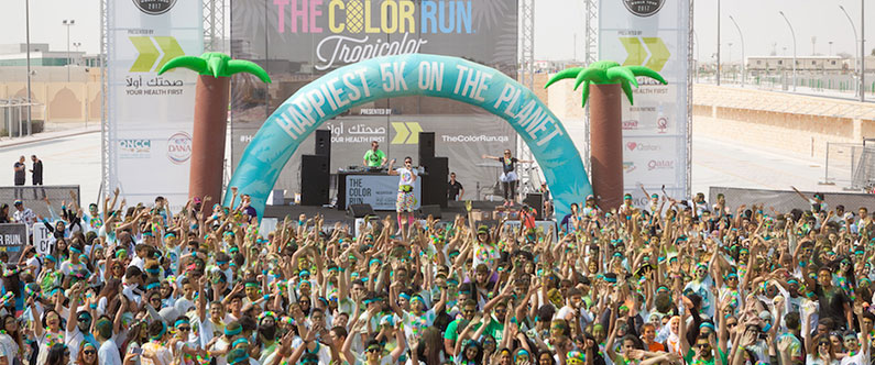 At the end of the Color Run, thousands gathered to celebrate their achievement at the Finish Festival.