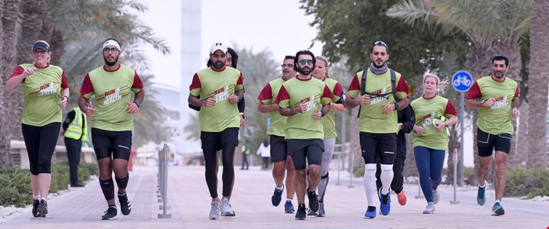 Dr. Arash Rafii-Tabrizi (far right), was joined by a number of other runners for the endurance marathon.