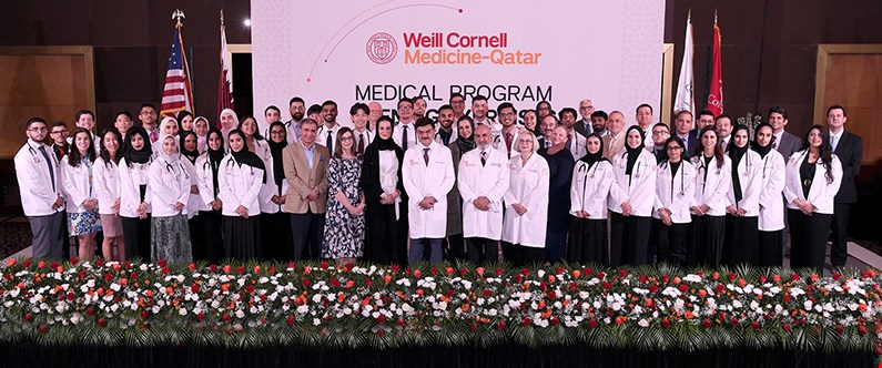 The White Coat Ceremony is the culmination of WCM-Q's orientation period when new students are welcomed to the college