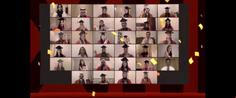 The graduates all received their degrees virtually in front of an online audience of family, friends, WCM-Q faculty and staff.