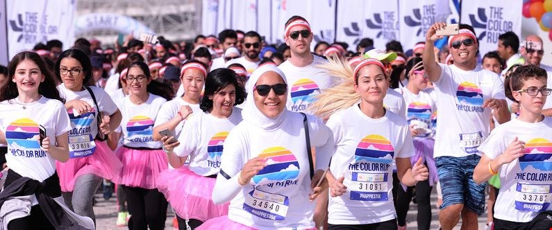 More than 9,000 participants took part in the 2018 edition of The Color Run. The 2019 edition takes place at QNCC on Saturday, 26 January, 2019.