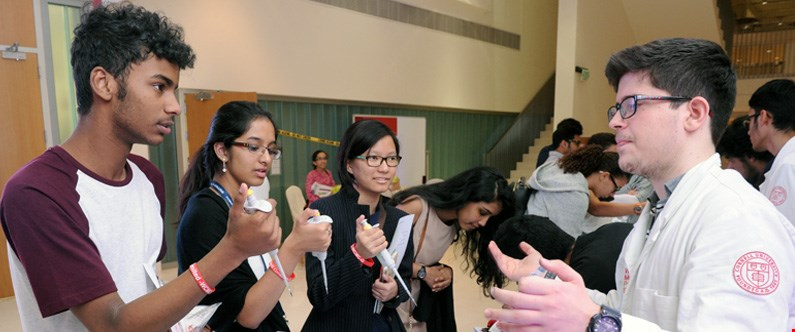 More than 400 students and family members visited WCM-Q's Medicine Unlimited event.