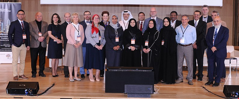 Experts from across the world attended the conference, which was organised by Dr. Alice Abdel Aleem (wearing a red headscarf), assistant professor of research in neurology, and assistant professor of research in neuroscience at WCM-Q.