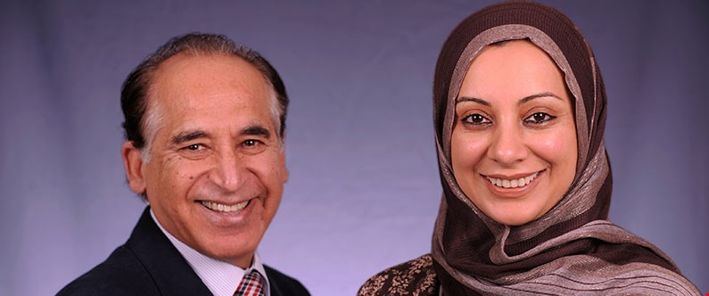 Dr. Ravinder Mamtani and Dr. Sohaila Cheema.