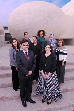 Front row: Dr. Javaid Sheikh, Dean of WCM-Q, and Dr. Thurayya Arayssi with WCM-Q's Continuing Professional Development team.